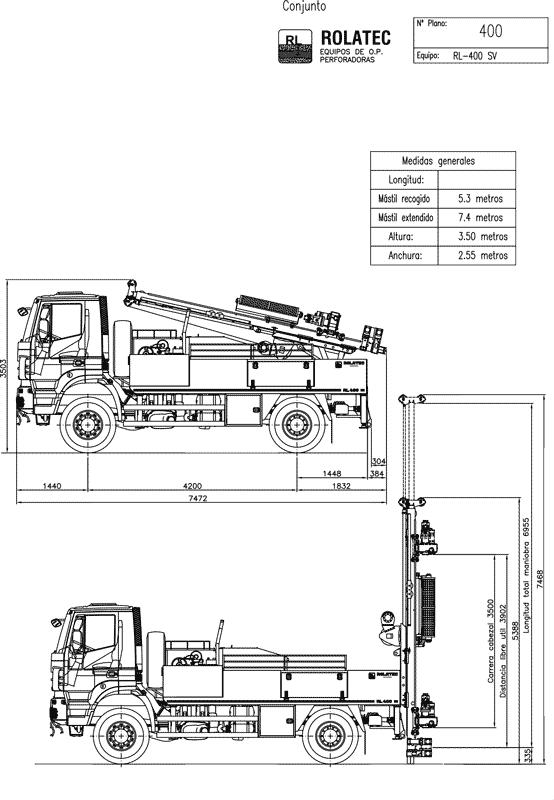 RL-400-SV Plano de conjunto