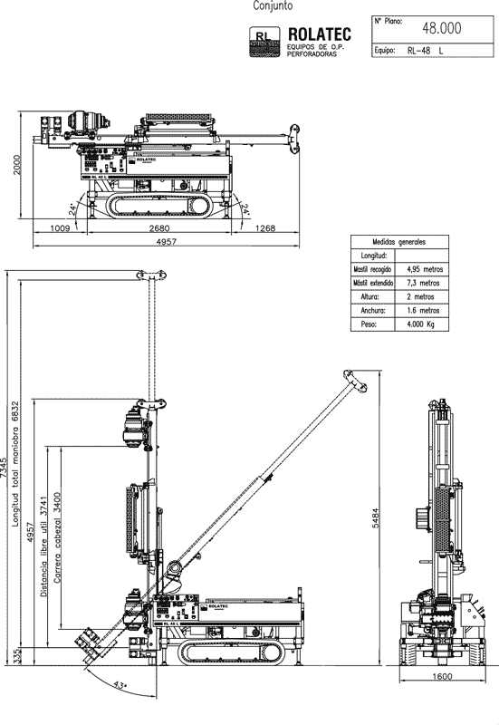 RL-48-L Plano de conjunto