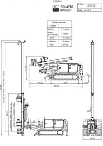 Rolatec RL-36-D Plano de conjunto