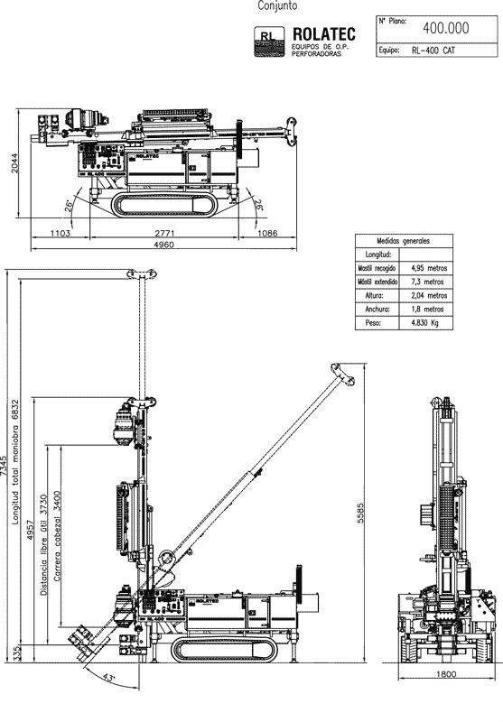 Rolatec RL-400 Plano de conjunto