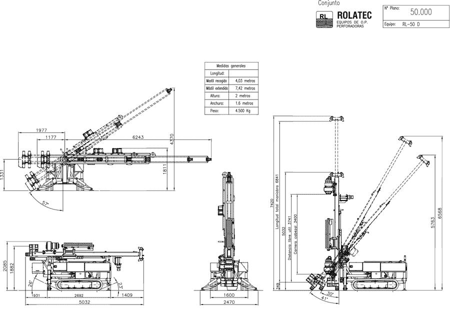 Rolatec RL-50-D Plano de conjunto