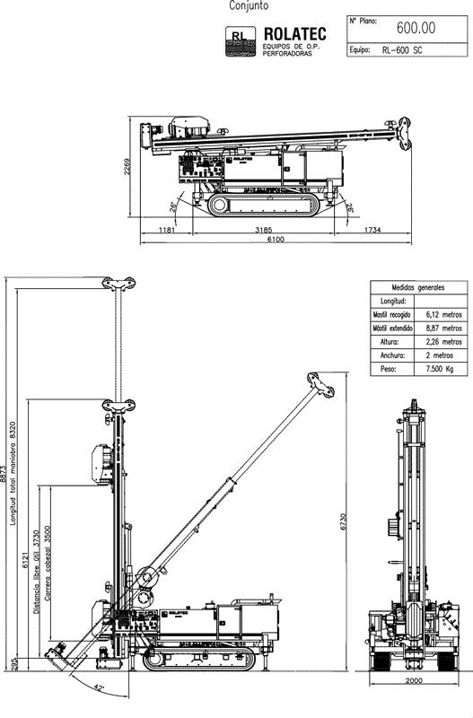 Rolatec RL-600-SC Plano de conjunto